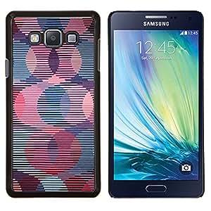 Stuss Case / Funda Carcasa protectora - Papel pintado retro Modelo rayado rosa - Samsung Galaxy A7 ( A7000 )