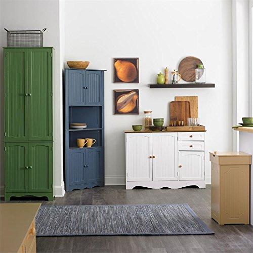 Brylanehome Country Kitchen Corner Cabinet (White Honey) | Kitchen ...