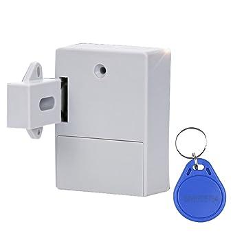 IPOTCH Cerradura Electrónica de Puerta Cajón Botón sin Llave ...