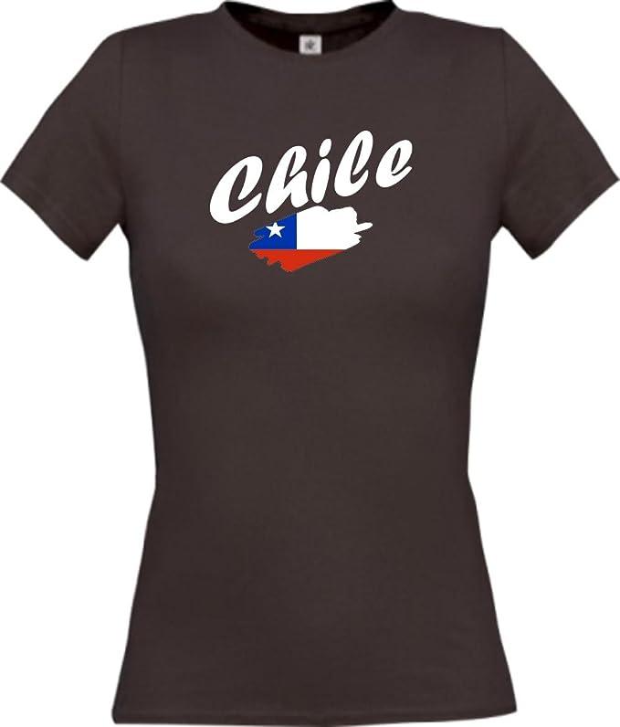 Shirtinstyle Camiseta de mujer WM Camiseta de país Chile muchos colores, Tamaños XS-XL - Marrón, XS: Amazon.es: Deportes y aire libre