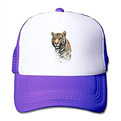 King Tiger Adjustable Snapback Baseball Cap Mesh Trucker Hat from cxms
