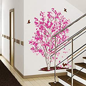 Rich Tree Decoration Wall Sticker Wall Red Maple