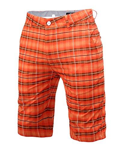 メンズ ゴルフ ハーフパンツ パンツ ストレッチ チェック柄 吸汗性 速乾性 通気性 薄手 爽やか ポケット付き 多色 多サイズ ゴルフウェア