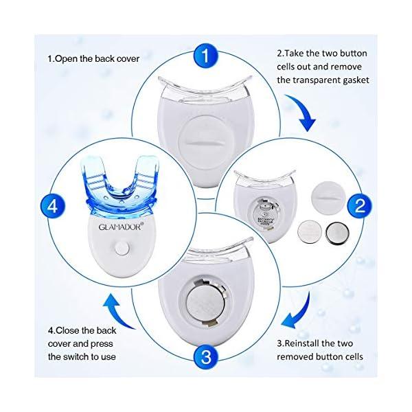 Kit Blanchiment Dentaire Professionnel- GLAMADOR Kit Blanchiment des Dents avec 12 Gel de blanchiment,3 Gel Apaisant…