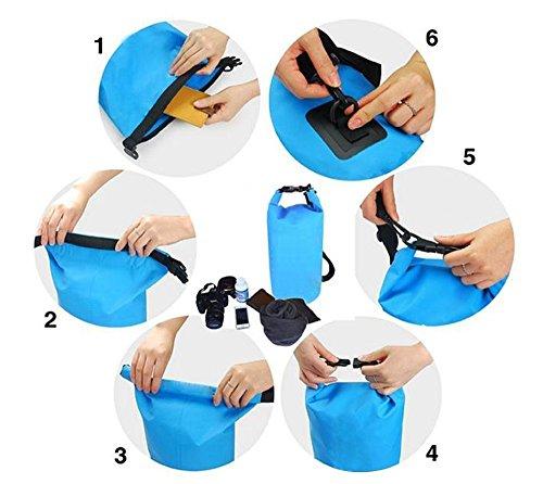 Wasserdichte Tasche, Universal Schutztasche Schutzhülle Handyhülle Case / Wasserdichter Packsack mit Verstellbarem Gurt(Packet von 3)/ Halten Sie Ihr Handy Cash Sicher & Trocken / Perfekt für den Sege