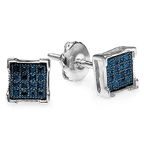 Carat Sterling Silver Diamond Earrings product image