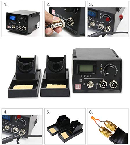 TOPCHANCES Professional Woodburning Detailer Laser Pyrography Machine Wood Burning Kit for Wood Leather,Christmas Nice Present (Dual Digital Display) by TOPCHANCES (Image #6)