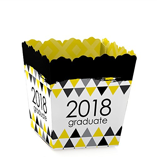 Yellow Grad - Best is Yet to Come - Party Goodie Favor Boxes - Yellow 2018 Graduation Party Treat Candy Boxes - Set of - Party Yellow Box