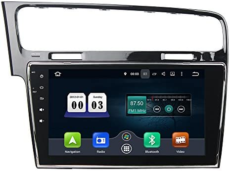 KUNFINE Android 9.0 8核自動車GPSナビゲーション マルチメディアプレーヤー 自動車音響 フォルクスワーゲン ゴルフ VW Golf 7 2013 2014 2015 自動車ラジオハンドル制御WiFiブルースティスト