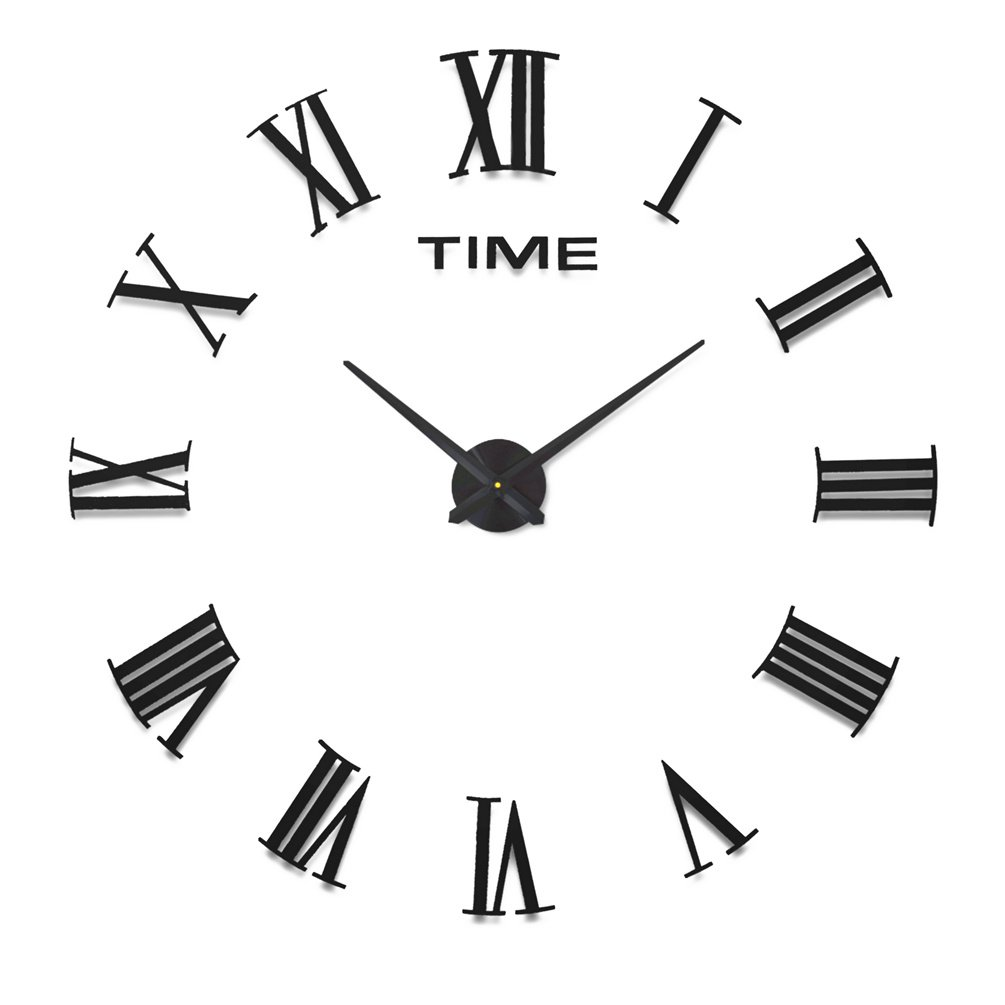 Home impression multi style modern 3d frameless large wall clock home impression multi style modern 3d frameless large wall clock 60 130cm diameter large decorative wall clocks home decor diy clocks living room a b 1 amipublicfo Choice Image