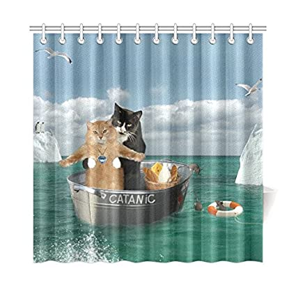 Amazon CaseCastle Waterproof Bathroom Fabric Shower Curtain