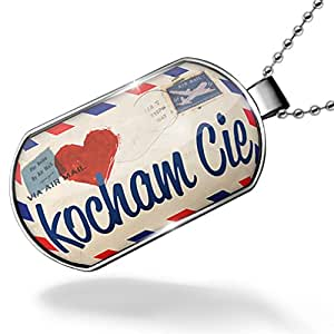 Dogtag I Love You Polish Love Letter from Print from Poland Dog tags necklace - Neonblond