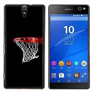 EJOOY---Cubierta de la caja de protección para la piel dura ** Sony Xperia C5 Ultra ** --Baloncesto neto del aro