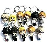 Anime Death Note Character Keychain Light Misa Ryuk L Rem Near 11PCS Set