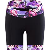 Shebeest 2018 Women's Triple S Ultimo Peonies Cycling Shorts - 3047-PN