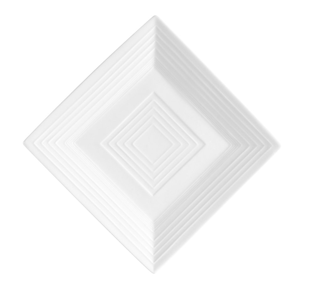 CAC China TGO-SQ6 Tango Bone White Porcelain Square Plate, 6-Inch, Box of 36