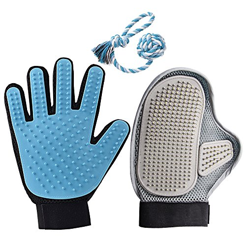 World Backyard Pet Grooming Gloves Brush Deshedding Tool ...