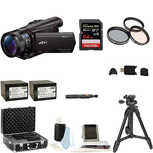 Sony FDR-AX100/B FDRAX100 AX100 4K Ultra HD Camcorder  + Son