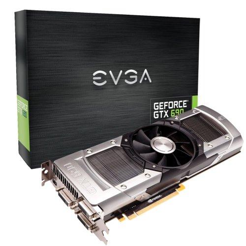 EVGA GeForce GTX690 4096MB 512bit GDDR5, Dual GPU, 2xDVI-I, DVI-D,Mini Display-Port, Quad SLI Ready Graphics Card (04G-P4-2690-KR)