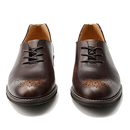 Punta Scarpe per Uomo da Casual Uomo Office Pelle A Punta Franceschetti Traspiranti Scarpe Brown up Slip Vera Lace On Oxblood vaR1agdWqO