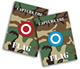 Cheap Toland Home Garden Capture The Flag 2-Pack 12.5 x 18 Inch Decorative Red Blue Camo Sports Paintball Garden Flag