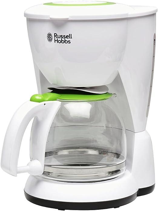 Russell Hobbs 19620-56 Cafetera de filtro, color verde y blanco, 1.3 litros, plástico: Amazon.es: Hogar