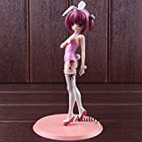 Scale Pre-painted Figure Ro-KYU-Bu! Minato Tomoka Bunny Ver. 1/7 PVC Bunny Girl Figure Action Collectible Model Toy (White)