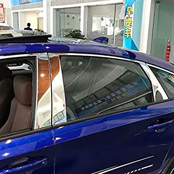 For Honda Accord 2018 2019 Stainless Steel Car Window Sills Cover Center Pillar Posts Molding Trim 6-pc