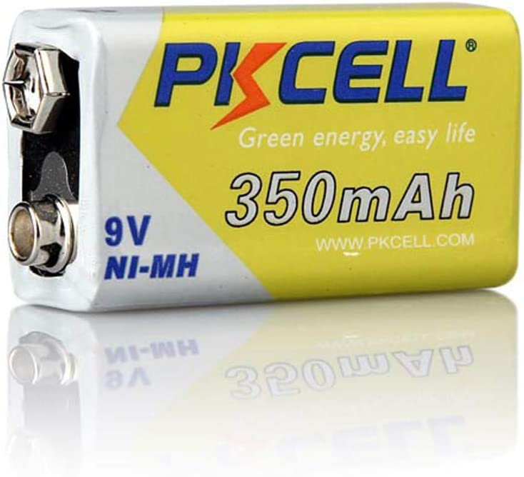 Rechargeable NIMH 9V 350mAh Battery Replace 9V Battery