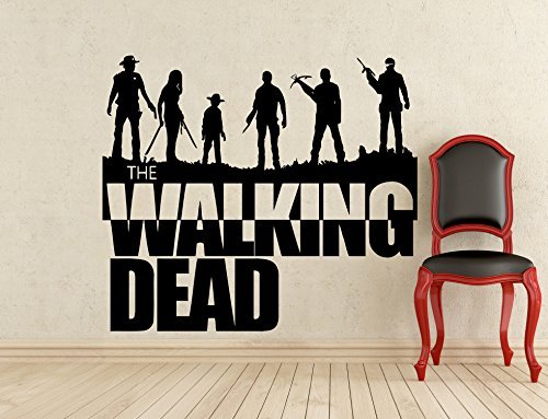 Walking Dead Wall Decal Horror Zombie Movie Vinyl Sticker (Walking Wall)