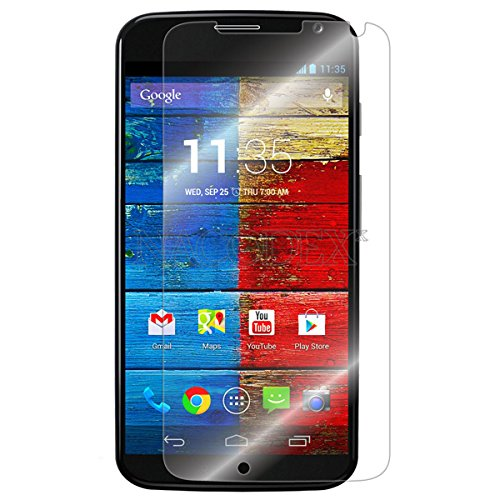ElBolt 2 in 1 Motorola Moto X (2nd Generation 2014) Silicon Dual Layer Armor Protective Case Cover Skin - Blue with Free ElBolt Certified Premium HD Screen Protector. (Amazon #1 Best Value Bundle for Moto X 2nd Gen 2014)