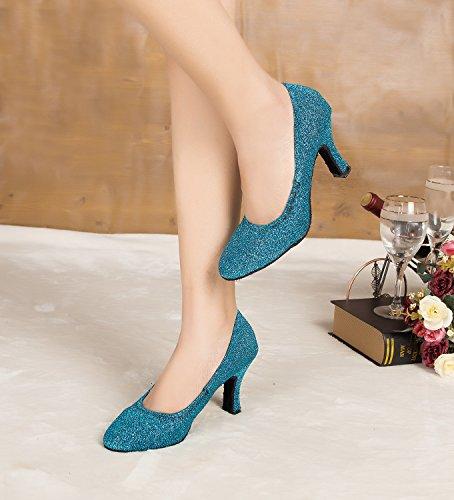 de femme heel 8cm bal Miyoopark Blue Salle vOwnqxz