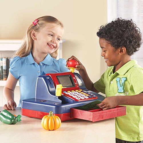 51Ho%2By9j73L - Learning Resources Pretend & Play Teaching Cash Register [Standard Packaging]