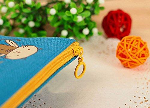 COMVIP Segeltuch Blume Druck Bleistift Beutel Bleistifte Tasche Stiftemappe Mäppchen 19.5*24.4cm 11 Blau 08 Rot Ug5GPhbR