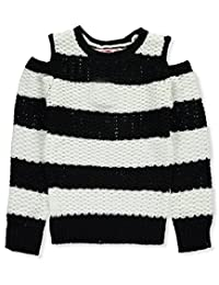 Pink Angel Big Girls' Cold-Shoulder Sweater