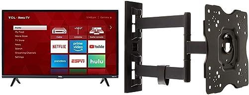 TCL 32S327 32-Inch 1080p Roku Smart LED TV 2018 Model AmazonBasics Heavy-Duty