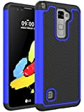 LG Stylo 2 Case - LG LS775 Case - NOKEA [Shock Absorption] Drop Protection Hybrid Dual Layer Armor Defender Protective Case Cover for LG Stylo 2 (Blue)