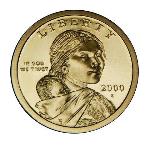 2000 S Sacagawea Native American Proof Dollar PF1