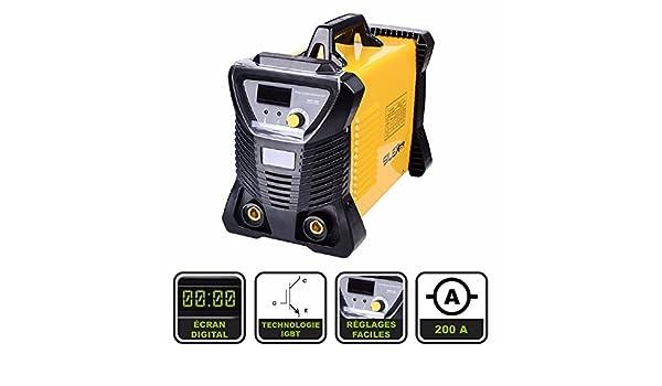 Silex® Inverter 200A - Máquina de soldadura por arco + gafas de protección: Amazon.es: Bricolaje y herramientas