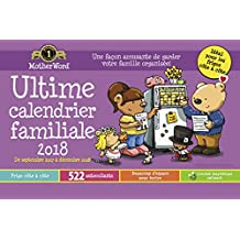 MotherWord Ultimate Family 16-Month Magnetic Calendar, Medium Side by Side Version, Sept 2017-Dec 2018, French, 9-1/2x15""