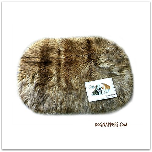 - DogNappers Plush Faux Fur Dog Bed - Cat Mat - Soft Padded Shaggy Wolf Pet Bed (20''x24'')