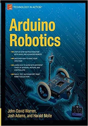 Arduino Robotics Technology In Action John David Warren Josh