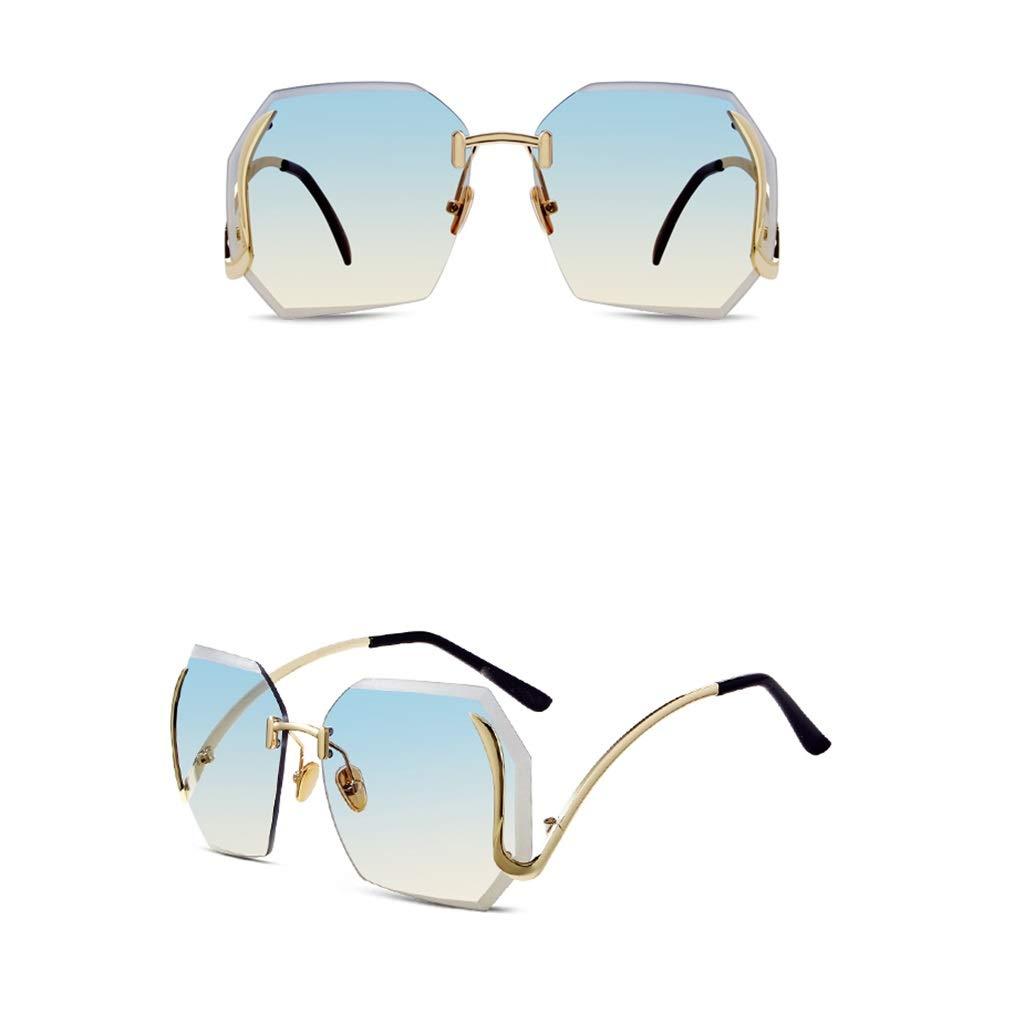 C LJBOZ Frameless Sunglasses Sunshade UV Square Sunglasses Women's Multicolor Optional Sunglasses (color   A)