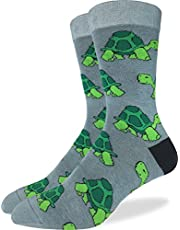 Good Luck Sock Men's Turtle Crew Socks - Green, Shoe Size 7-12