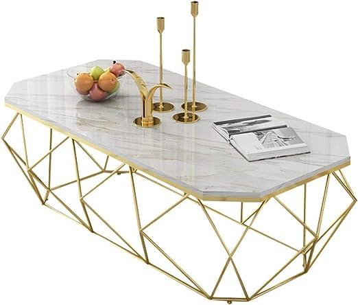 KUKU-mesas de centro Mesa de Centro de mármol Blanco, Bandeja ...