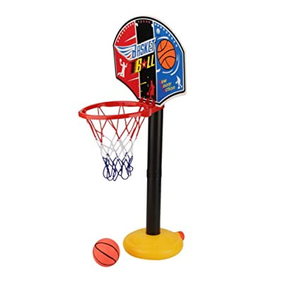GLOGLOW EasyScore Basketball Set Basketball Hoop Stand Toy Set Grow-to-Pro Junior Basketball Toy Adjustable Miniature Sport Tool for Kids and Children: Toys & Games