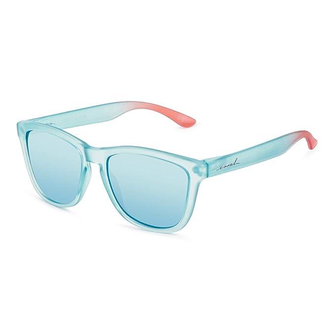 95a68291b6 CORAL Sunglasses - CRASQUI - Gafas de sol azul y lentes espejo revo azul  eléctrico polarizadas