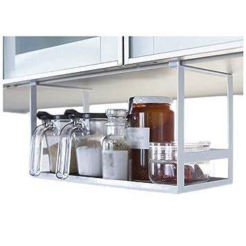 Estante de cocina Acero de Carbono Resistente Que cuelga Almacenamiento Multi de la función los 30 * 15.5 * 18cm XIN: Amazon.es: Hogar