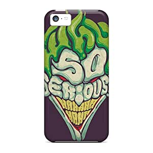 Iphone 5c AnN2725eubg Customized Vivid Joker Why So Serious Pictures Bumper Hard Phone Covers -LavernaCooney