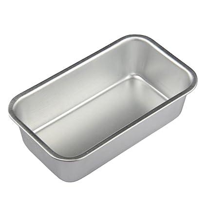 BESTONZON Molde para Pan de aleación de aluminio rectángulo para para Hornear Torta Tostada